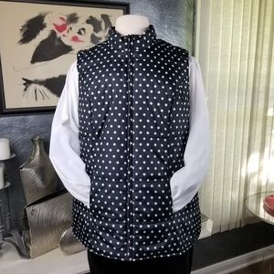 WOMAN WITHIN QUILTED POLKA DOT VEST SIZE 1 X